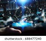 businessman on blurred...   Shutterstock . vector #688477240