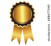 gold label   award with... | Shutterstock .eps vector #688477540