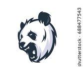 strong panda   vector logo icon ...   Shutterstock .eps vector #688477543