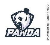 strong panda   vector logo icon ... | Shutterstock .eps vector #688477570