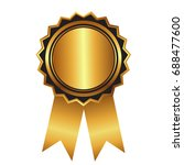gold label   award with... | Shutterstock .eps vector #688477600