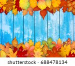 colorful autumn leaves on... | Shutterstock . vector #688478134