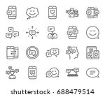 message and communication icons.... | Shutterstock .eps vector #688479514