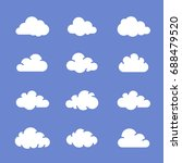 cloud icons on blue sky. vector ...   Shutterstock .eps vector #688479520