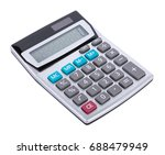 calculator isolated on white... | Shutterstock . vector #688479949