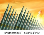 intercontinental ballistic... | Shutterstock . vector #688481440