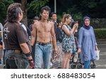 tokyo  japan   july 30th  2017. ... | Shutterstock . vector #688483054