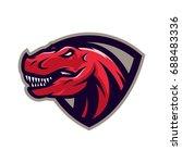 t rex    vector logo icon... | Shutterstock .eps vector #688483336