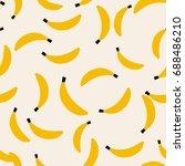 seamless pattern banana art...   Shutterstock .eps vector #688486210