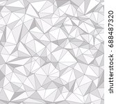 geometric low poly triangle... | Shutterstock .eps vector #688487320