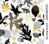 autumn leaves seamless pattern. ...   Shutterstock .eps vector #688488520