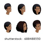 isometric icons of the head of... | Shutterstock .eps vector #688488550