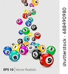 vector colorful bingo balls... | Shutterstock .eps vector #688490980