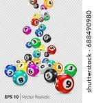 vector colorful bingo balls... | Shutterstock .eps vector #688490980