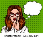 young attractive girl wants to...   Shutterstock .eps vector #688502134