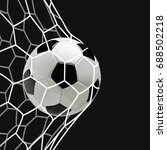 soccer or football 3d ball in... | Shutterstock . vector #688502218