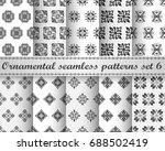 set of ten seamless repeating... | Shutterstock .eps vector #688502419