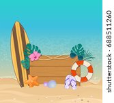 summer holidays vector... | Shutterstock .eps vector #688511260