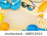 beach ready  summer holiday... | Shutterstock . vector #688513414
