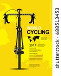cycling poster vector... | Shutterstock .eps vector #688513453