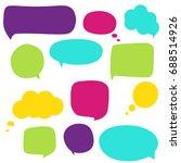 speech bubbles | Shutterstock .eps vector #688514926