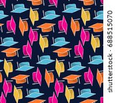 graduate cap colorful abstract... | Shutterstock .eps vector #688515070