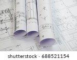 plans of building | Shutterstock . vector #688521154