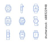 smart watches linear icon set.... | Shutterstock .eps vector #688522948