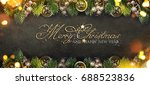 christmas and new year s... | Shutterstock . vector #688523836