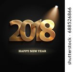 the 2018 new year count symbol... | Shutterstock .eps vector #688526866