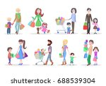 set of different shopping... | Shutterstock . vector #688539304