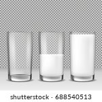 set of vector realistic... | Shutterstock .eps vector #688540513