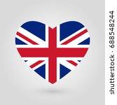 uk flag in the heart shape.... | Shutterstock .eps vector #688548244