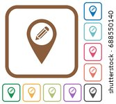 edit gps map location simple... | Shutterstock .eps vector #688550140