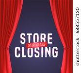store closing vector... | Shutterstock .eps vector #688557130