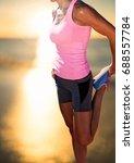 digital composite of athlete... | Shutterstock . vector #688557784