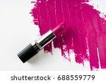 pink lipstick and lipstick... | Shutterstock . vector #688559779