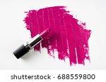 pink lipstick and lipstick... | Shutterstock . vector #688559800