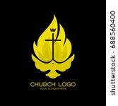 church logo. christian symbols. ... | Shutterstock .eps vector #688560400
