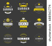summer season sale badges and... | Shutterstock .eps vector #688561774