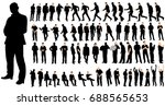 vector  isolated  a set of men  ... | Shutterstock .eps vector #688565653