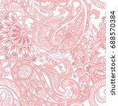 paisley pattern. seamless asian ... | Shutterstock .eps vector #688570384