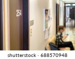 doctor's waiting area or room... | Shutterstock . vector #688570948