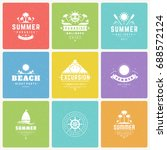 summer holidays design elements ... | Shutterstock .eps vector #688572124