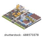 modern isometric big industrial ... | Shutterstock .eps vector #688573378