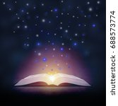 open book and stars from it | Shutterstock . vector #688573774