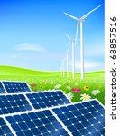 green energy field with...   Shutterstock . vector #68857516