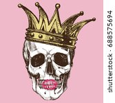 king of death. portrait of a... | Shutterstock .eps vector #688575694