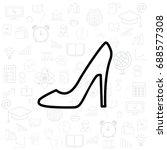 heel shoes icon. vector... | Shutterstock .eps vector #688577308