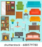furniture icons vector isolated ... | Shutterstock .eps vector #688579780